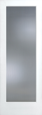 Wide Reed French Glass Interior Door