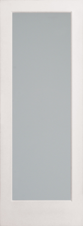 Diffsued White Laminate French Glass Interior Door