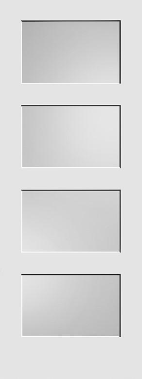 #8444 MDF Shaker w/ Diffused White Laminate Shaker Panel Interior Door