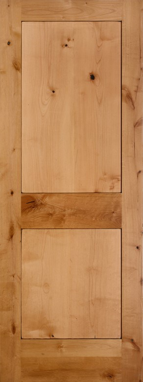 #8402 Knotty Alder Shaker Panel Interior Door