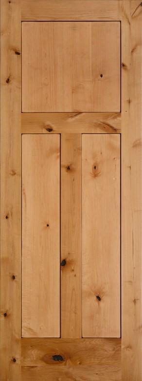 #8403 Knotty Adler Shaker Panel Interior Door