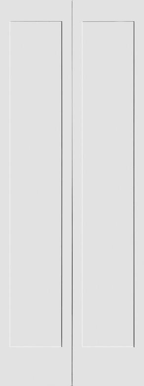 #8401 MDF Primed Bifold Shaker Panel Interior Door
