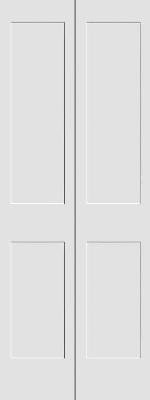 #8402 MDF Primed Bifold Shaker Panel Interior Door