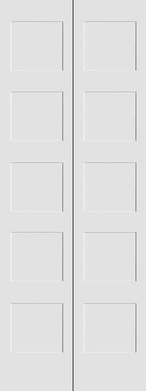 #8405 MDF Primed Bifold Shaker Panel Interior Door